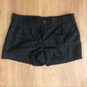 lace shorts size 2 diane von furstenberg